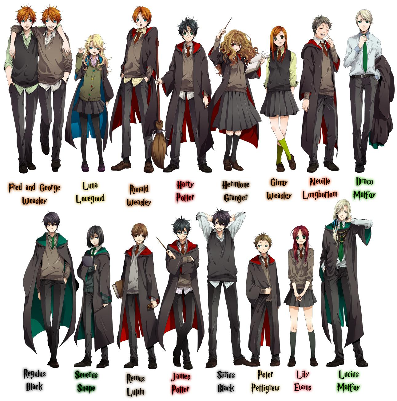 Harry Potter Characters Drawn Anime Style This Is It
