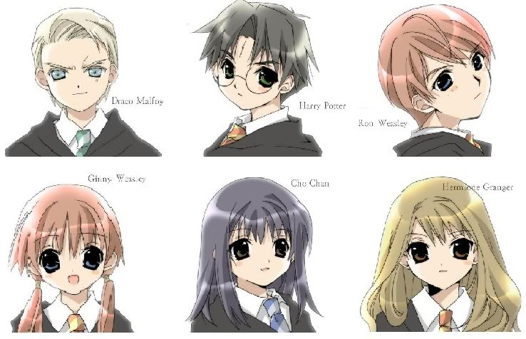 Harry potter characters anime style