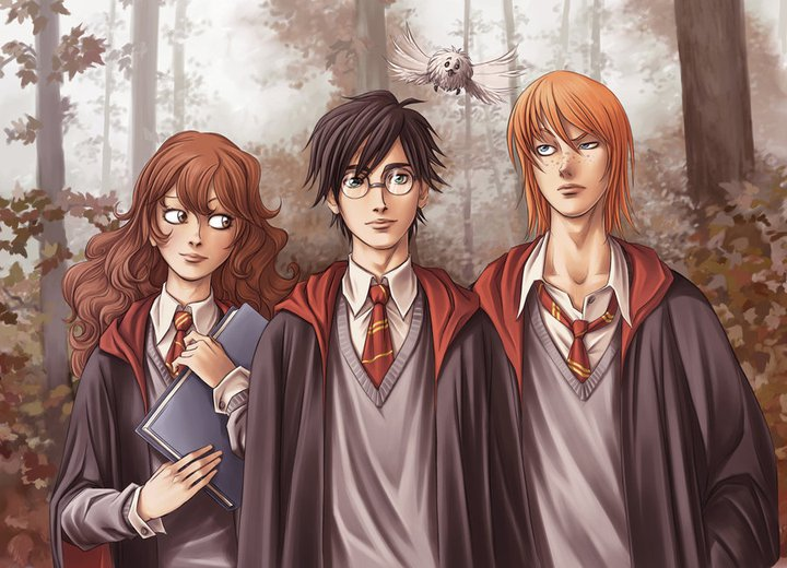 harry potter ron weasley and hermonie granger