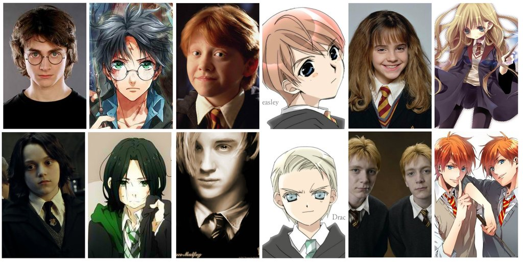 harry potter characters drawn anime style this is it dan yerelian