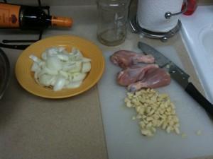 Chicken, Onions and Garlic