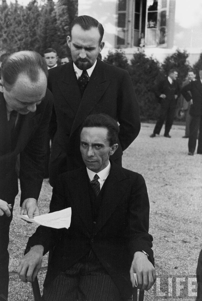 Paul Joseph Goebbels, German Minister of Propaganda after finding out the photographer is Jewish