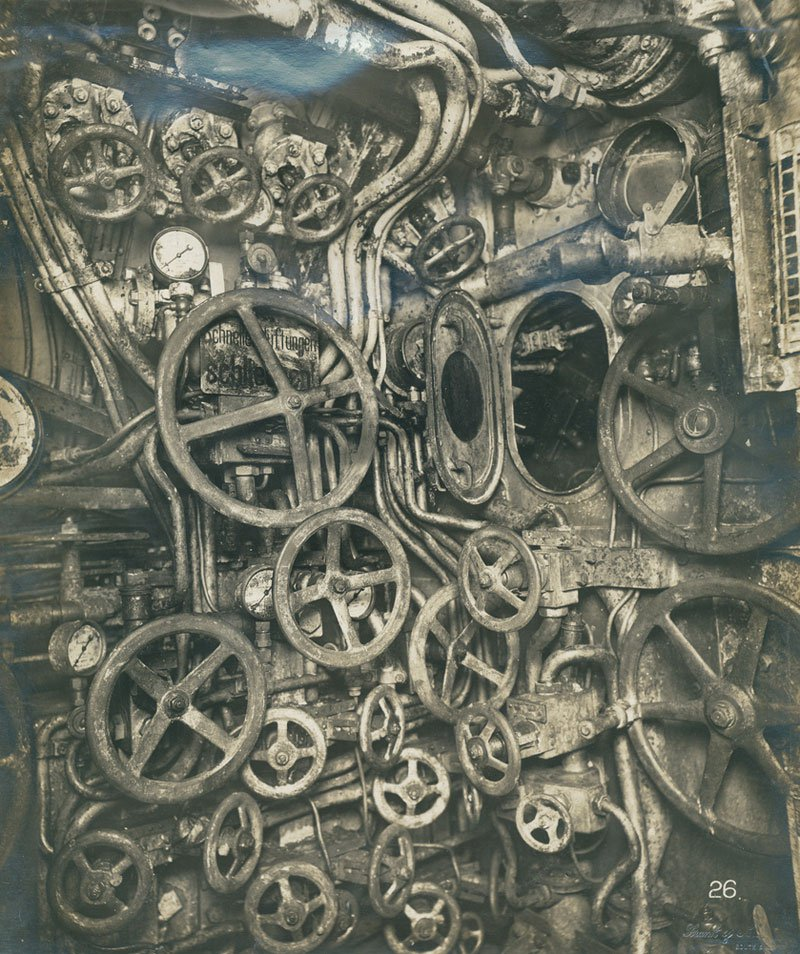 Control room of  a German Uboat