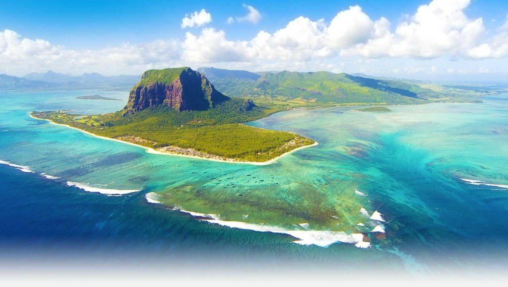 Mauritius Island Underwater Waterfall Republic of Mauritius