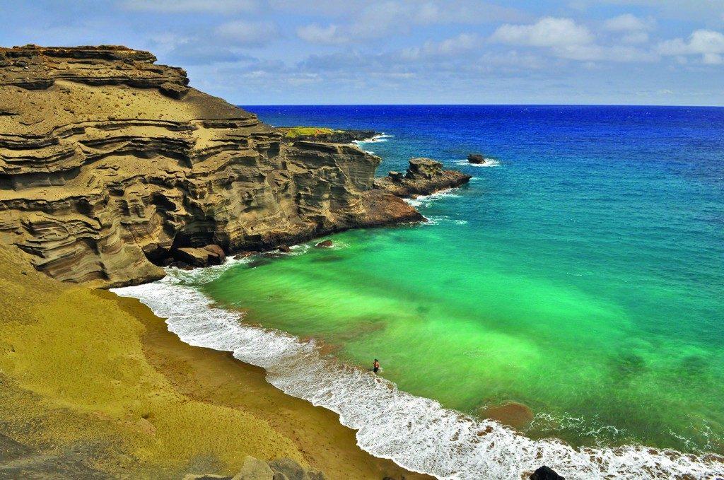 Papakolea Green Sand Beach Hawaii USA